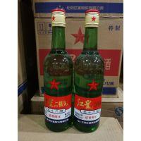 白酒批发 红星二锅头 56度 绿瓶500ml*12 正品保证