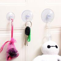 透明穿孔吸盘真空卫生间蘑菇头粘钩汽车厨房浴室玻璃壁挂强力挂钩
