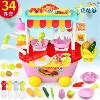 过家家小餐车厨具小推车儿童仿真购物玩具套装厂家直销