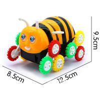 厂家直销小蜜蜂电动12彩轮翻斗车 电动翻斗蜜蜂 创意玩具地摊热卖