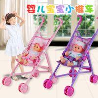 热卖婴儿手推车 配送眨眼娃娃推车 儿童益智亲子过家家玩具批发