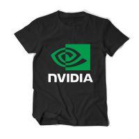 外贸爆款印花AMD NVIDIA 英伟达男士纯棉短袖T恤打底潮款