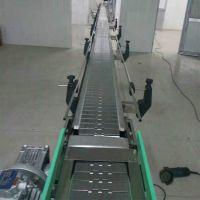 卓远厂家非标定做桶装水输送机 304不锈钢链板输送机 耐腐蚀耐用
