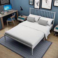 主卧美式少女卧床大学生经济型小户型铁床实木床简约欧式铁架床