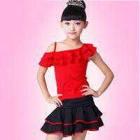 云裳儿童拉丁舞服装女童舞蹈服新款拉丁舞裙练功服夏幼儿演出服装
