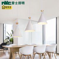 雷.士LED餐厅吊灯北欧现代简约三头餐吊灯个性创意吧台卧室餐桌灯