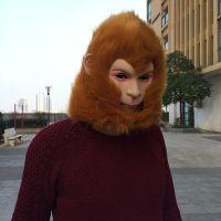 新款孙悟空面具毛美猴王西游记演出面具头套猴头万圣节化装舞会