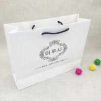 礼品手提纸袋定做 白色服装购物包装白卡纸袋 女装手袋大号