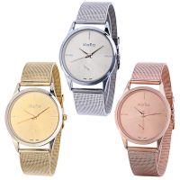 钢带手表 现货不锈钢网带手表男款 时尚男士女士手表 厂家批发