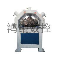 电动液压角钢冲孔机 自动定位角钢法兰生产线冲孔机 鸿鲲