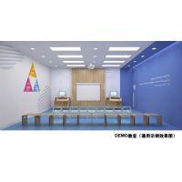 郑州易贝乐少儿英语培训学校装修效果图-高端连锁英语培训机构装修案例