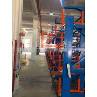福建放管材的货架 伸缩悬臂式货架特点 行车配套 存取方便 节约空间