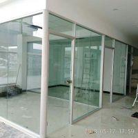 徐州丰县百叶隔断 玻璃隔断、高隔、玻璃门 双玻百叶玻璃隔断