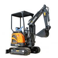 甘肃兰州自用液压小型挖掘机 价格便宜的无尾回转农用小型挖沟机