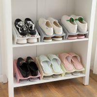 仿藤放鞋子收纳鞋柜省空间托架器鞋架鞋托宿舍多功能迷你塑料整理