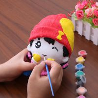 E区搪胶娃娃套装厂家批发非石膏画娃娃涂色儿童玩具涂鸦白坯公仔