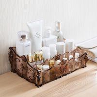 卧室女孩化妆盒收纳盒透明盒用品家用整理盒子迷你浴室个性女士收