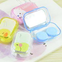 卡通便携隐形眼镜盒美瞳盒糖果色可爱糖果色隐形眼镜伴侣盒护理盒