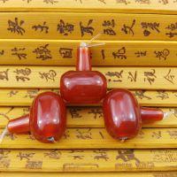 天然红玛瑙鼓形三通佛头套装散珠配件手工DIY饰品配珠佛珠配饰