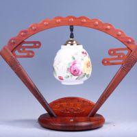 客厅办公室床头柜红木陶瓷新中式创意复古灯具结婚台灯卧室床头灯