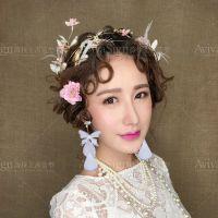 新娘头饰新款大气韩式仙森系甜美婚纱配饰发箍结婚羽毛发饰套装
