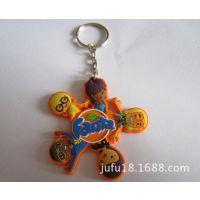 厂家专业定制PVC软胶钥匙扣 创意卡通钥匙挂件