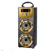 现货供应MX-102便携式手提木质蓝牙音箱户外卡拉OK插卡收音机音响CE,ROHS等认证