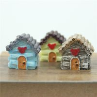 多肉摆件微景观摆件爱情海迷你小房子创意摆件田园风木屋房小摆件