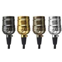 E27 110-220V 爱迪生复古灯头 带线1.2米 不带开关 四色可选