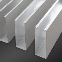 铝方通厂家供应商场铝方通天花吊顶铝合金U槽条形方通