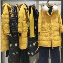 上海高端昆诗兰品牌折扣女装专柜原单尾货货源批发