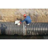 圣通圣大管业厂家供安徽芜湖市政管道PE钢带波纹管排水管道型号齐全