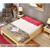特价 实木床松木床单人床双人床榻榻米1米1.2米1.5米1.8米可定做
