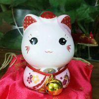 厂家直销 新品招财猫陶瓷小摆件可爱猫咪储蓄罐创意景德镇工艺品