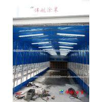 环保除尘漆雾过滤|UV光氧催化|伸缩式干式喷漆室|移动式打磨房wh-shsh-001