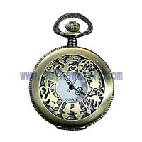 钟表厂家供应SPIKE新款复古怀旧镂空礼品纪念怀表