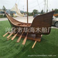 木质海盗船 商场景观道具摆件船 户外装饰海盗船 复古木船定制