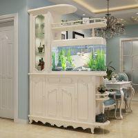 欧式入户玄关柜鱼缸隔断柜双面客厅间厅鞋柜门厅简约现代风格酒柜
