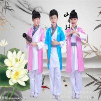 古装服装儿童汉服幼儿国学弟子规男表演服女童三字经书童演出服装