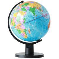得力3034地球仪25CM清晰度高摆件世界地球仪中英文学生万向地球仪