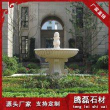 特色石雕装饰喷泉 石雕水钵生产厂家九龙星