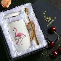 火烈鸟图案陶瓷马克杯 活动纪念礼品马克杯