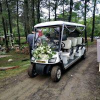 8座白色电动四轮高尔夫球车公园小区巡逻车婚车楼盘看房车