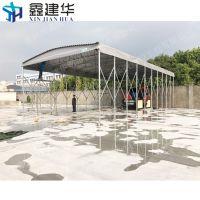 丰台区优质雨棚厂家供应室外伸缩篷 大型遮阳蓬 布 移动推拉