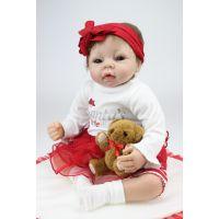外贸出口原单仿真婴儿 硅胶娃娃 婴儿摄影 服装模特月嫂培训道具