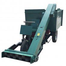柴油机带清粪车 处理粪便不在愁的养殖场清粪机 自动上粪的刮粪车