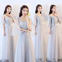 新款韩版礼服时尚礼礼服大气宴会气质端庄宴会连衣裙伴娘长款显瘦