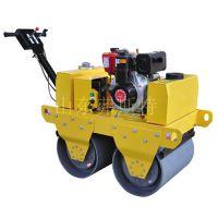 手推式双钢轮压路机转弯半径小窄场施工必备