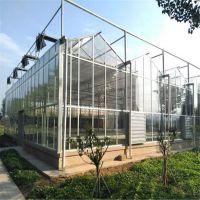 玻璃智能温室 连栋薄膜大棚厂家 玻璃温室尺寸 各种类型温室建造