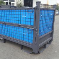 厂家直销 钢制双层周转箱 重型垃圾框 废料箱 汽车零件框 物料箱